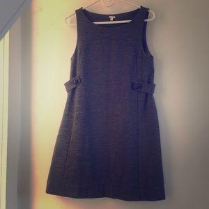 J Crew gray wool shift Dress Small